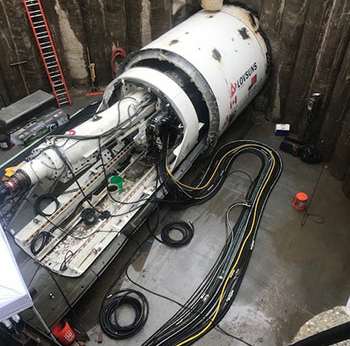 Half-ring installation for TBM launch