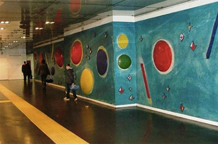 Underground art in Naples Metro