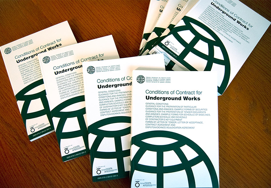 FIDIC-ITA Emerald Book form of contract specifically for underground construction projects