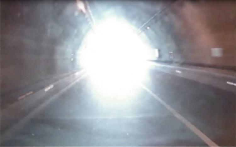 Exit white light phenomenon