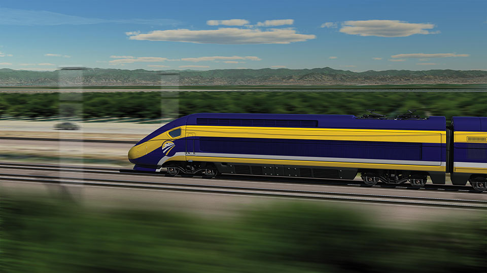 Conceptual rendering of the California High-Speed Rail bullet train