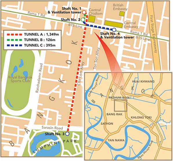 Fig 1. Tight curve TBM drives follow public road easements