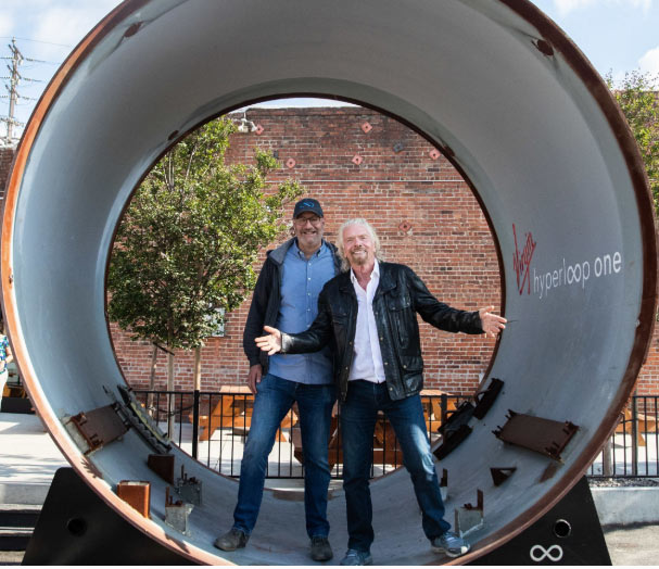 Richard Branson (right) a champion of hyperloop