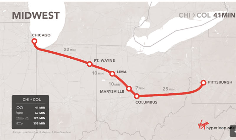 Proposed Midwest route