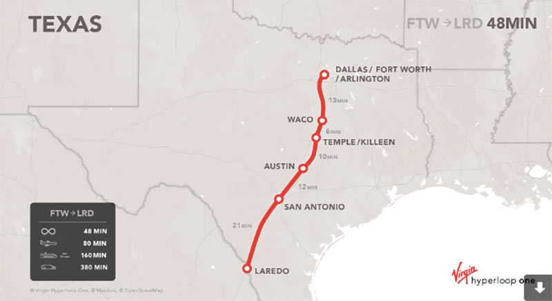 Proposed Texas route