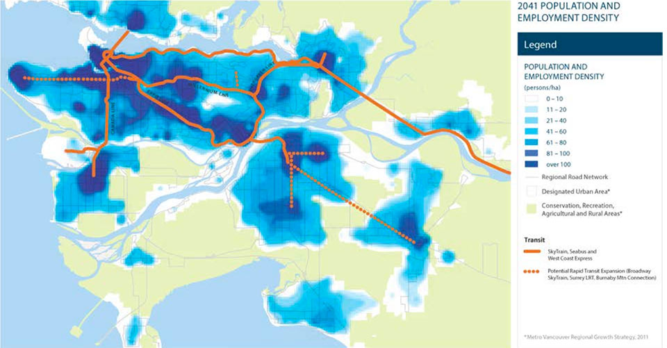 Future transit plans to serve areas of urban growth