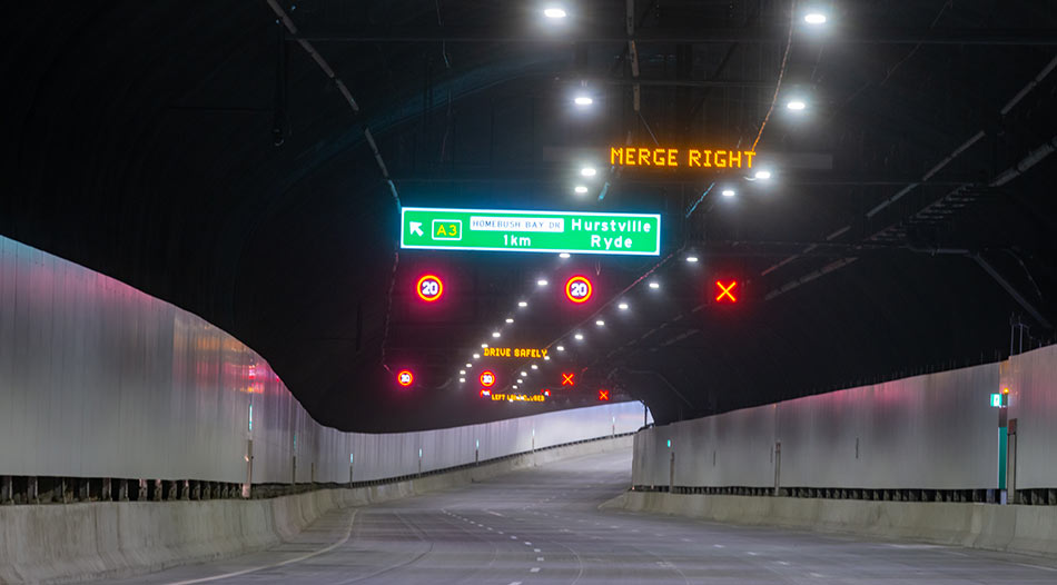 Inside the M4 tunnels