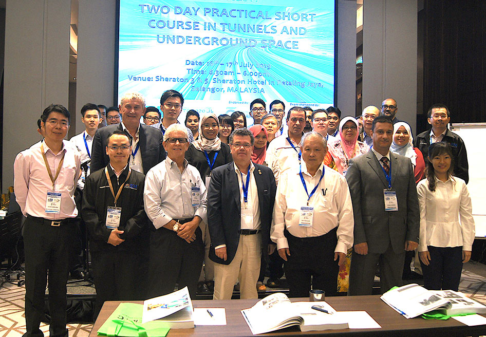 Presenters and young tunnellers at the short course in Kuala Lumpur