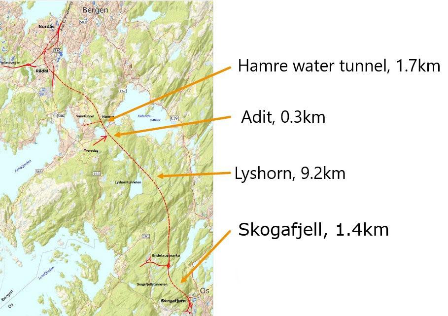 Fig 1. A tough route through to Bergen