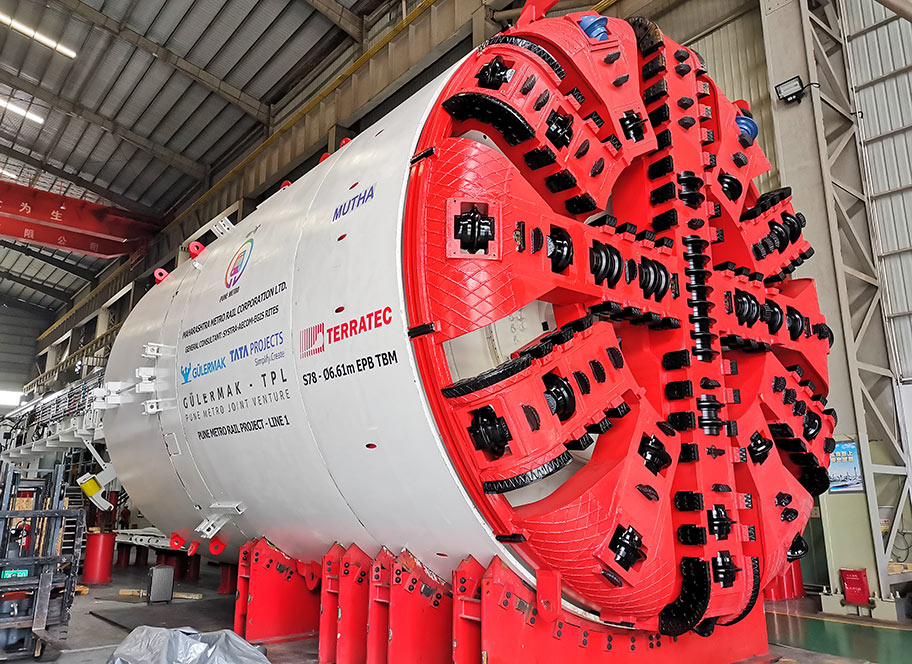 First TBM ready for Pune Metro