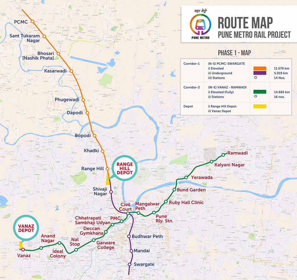 Line 1 includes 5km underground