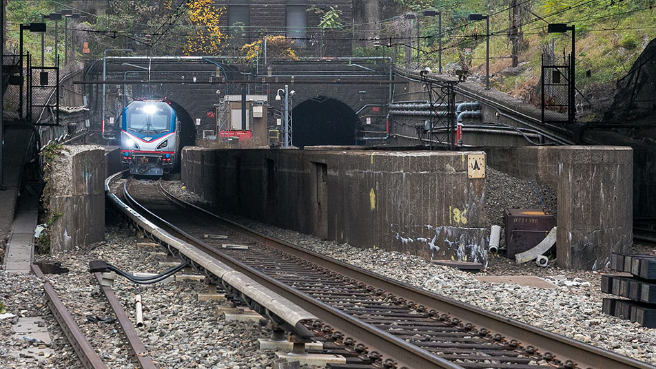 Portal of existing Hudson rail link in New Jersey