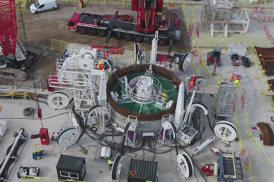VSM at top of MTS shaft