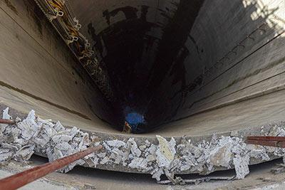 Excavated MTS shaft at Woodsmith Mine