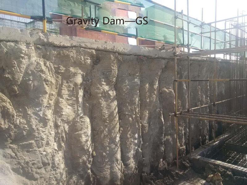 Excavation support using GS Soil Hardener