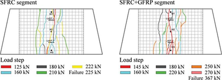 Fig 5. Bending test crack pattern at the intrados surface