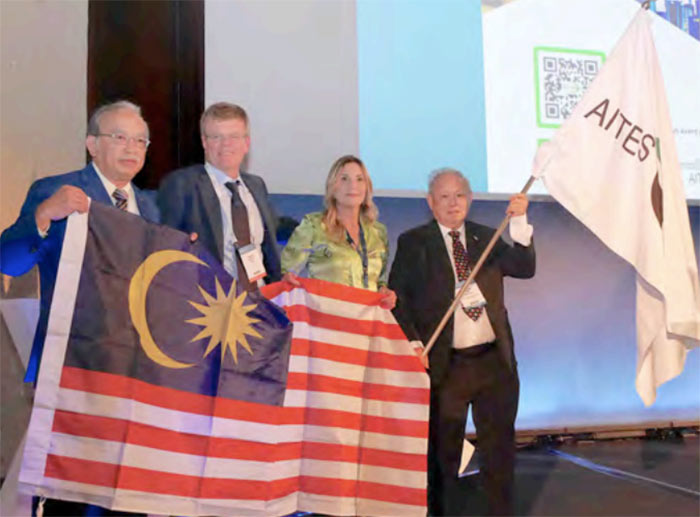 ITA flag handed from Italy in 2019 to Malaysia as host country for WTC 2020