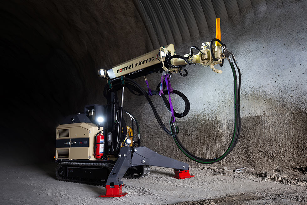 Compact concrete spraying solution from Normet