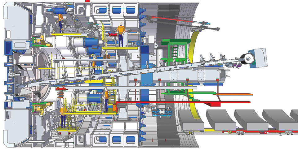 New XRE TBMs will have a belt conveyor and a switch-out screw conveyor for challenging conditions