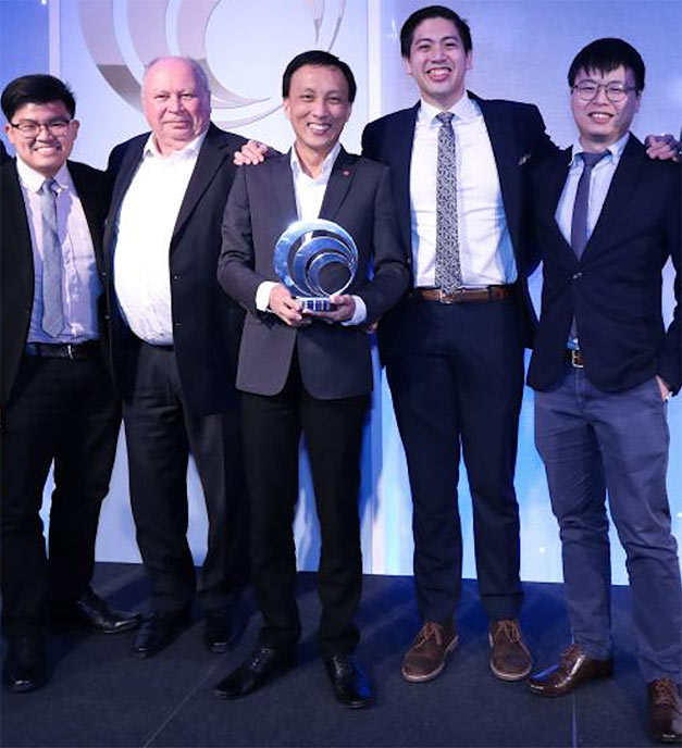 Winning team in London for MMC-Gamuda (from left): John Lim; Gus Klados; Ng Hau Wei; Justin Chin and Liew Kit Shen