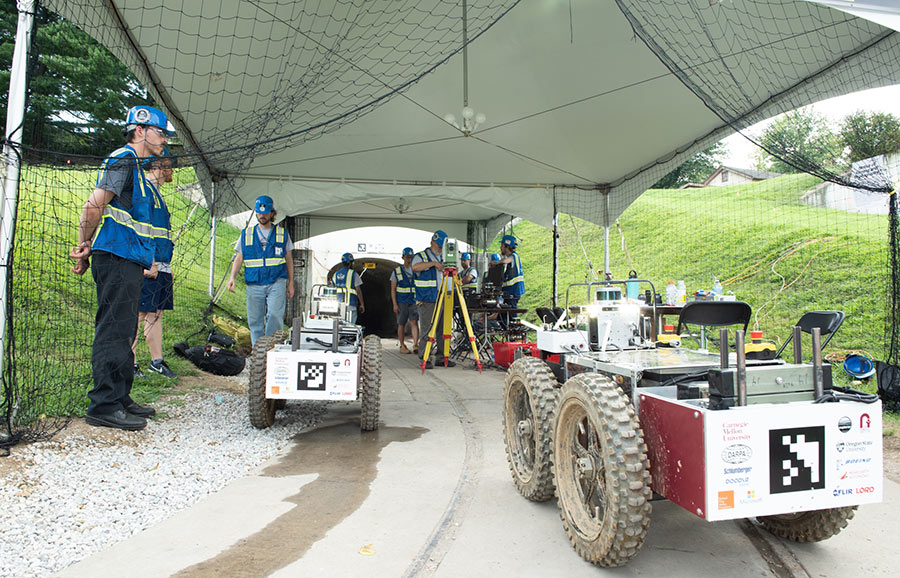 Robots explore tunnels in development competition