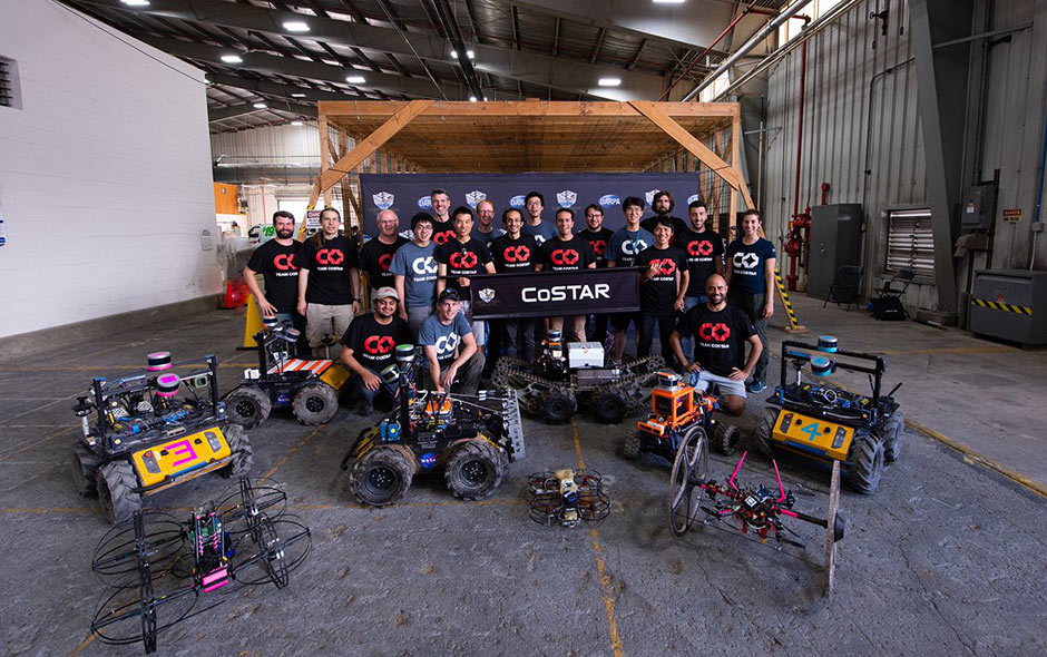 First stage runner-up: Team CoSTAR, including NASA