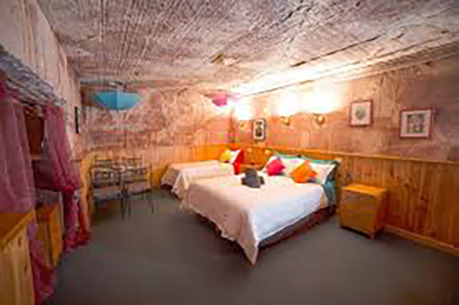 Underground hotel in Coober Pedy