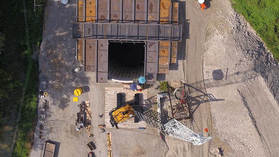 88ft diameter Jefferson Barracks launch shaft