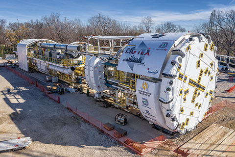 Largest ever hard rock TBM deployed in the USA