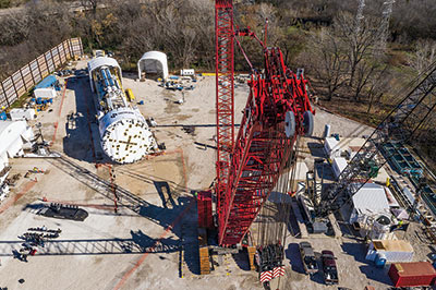 TBM is designed and supplied by Robbins