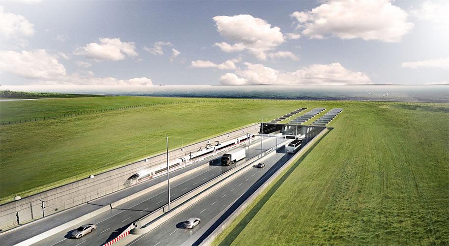 Planned 18km Fehmarnbelt immersed tube link