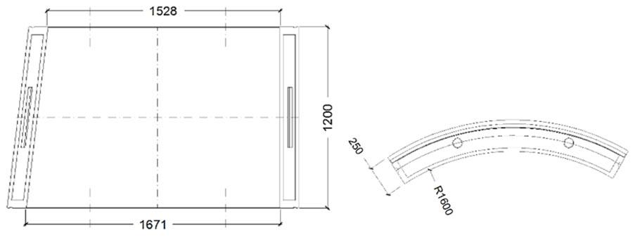 Fig 1. Segment geometry