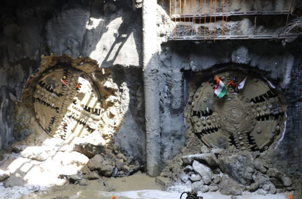 Twin breakthrough of 40 TBM breakthroughs on the project