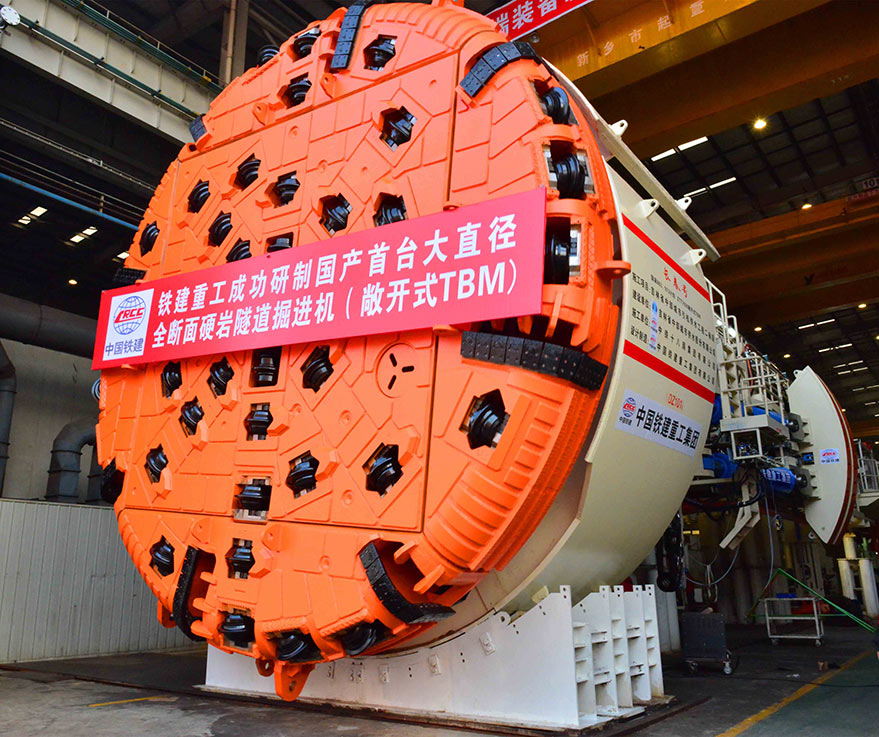 TBM manufactured and ready for dispatch to site