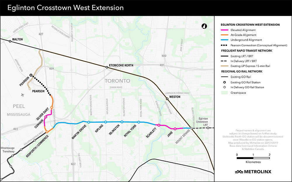 Fig 2. 9.2km Eglinton Crosstown West extension