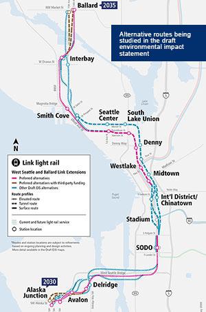 Fig 1. West Seattle-Ballard Link faces uncertain future