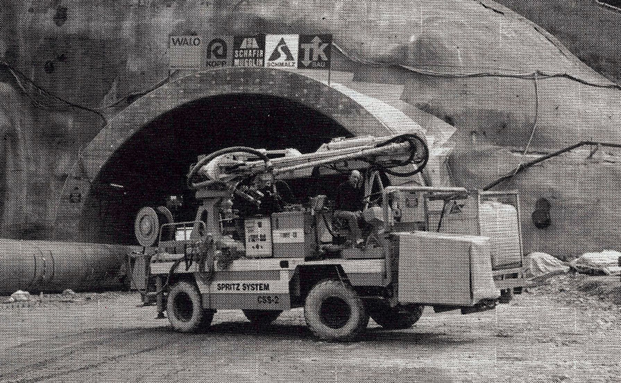 CJFA Spritz System CSS 2 on its first use in a Swiss tunnel
