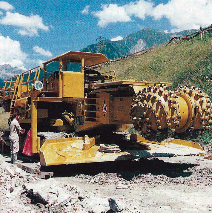 Eickhoff type ET 410- Q ready for work at Vereina tunnel