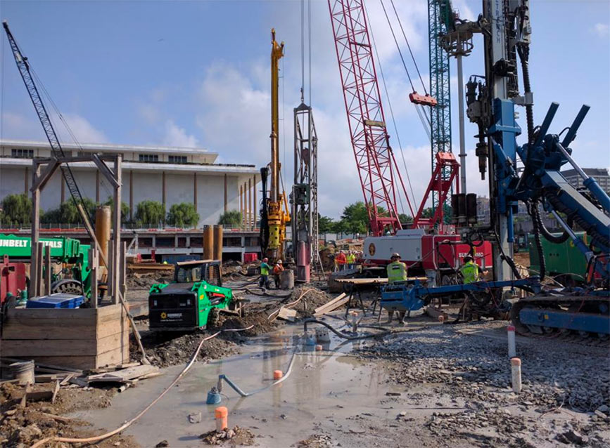 Advance of the Kennedy Centre CSO-021 shaft which will be connected to the Potomac River Tunnel