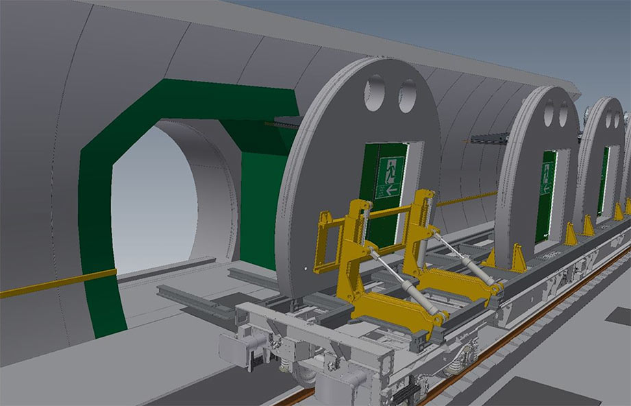 Use of digital twins for tunnel door systems