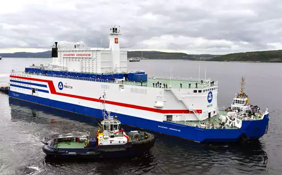 First floating nuclear power reactor by Russia
