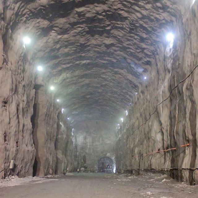 Expanse of an excavated underground hydro scheme machine hall