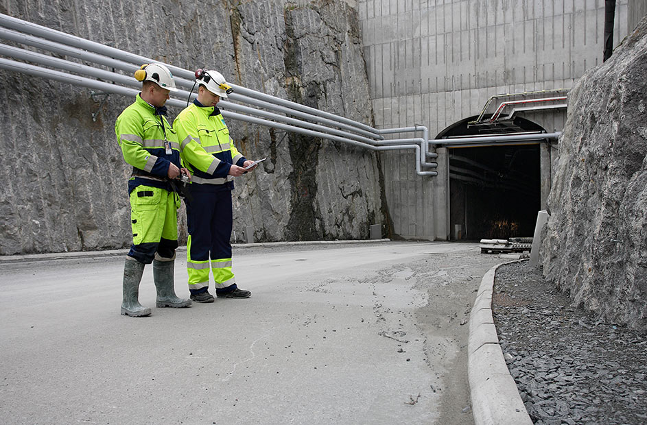 Entrance to Onkalo underground storage facility in Finland