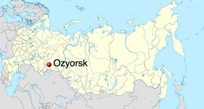 Ozyorsk, location of largest site for radioactive waste