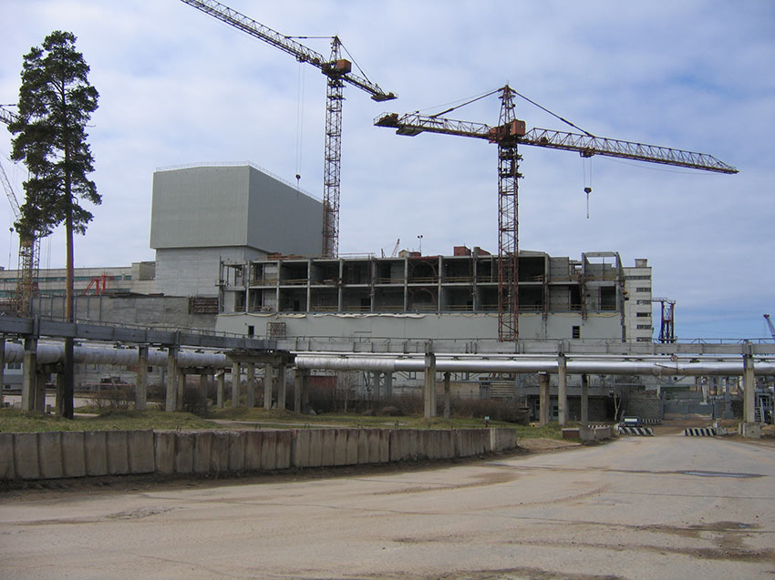Construction progressing for the at-reactor dry storage facility in the Sosnovy Bor in the St Petersburg Region