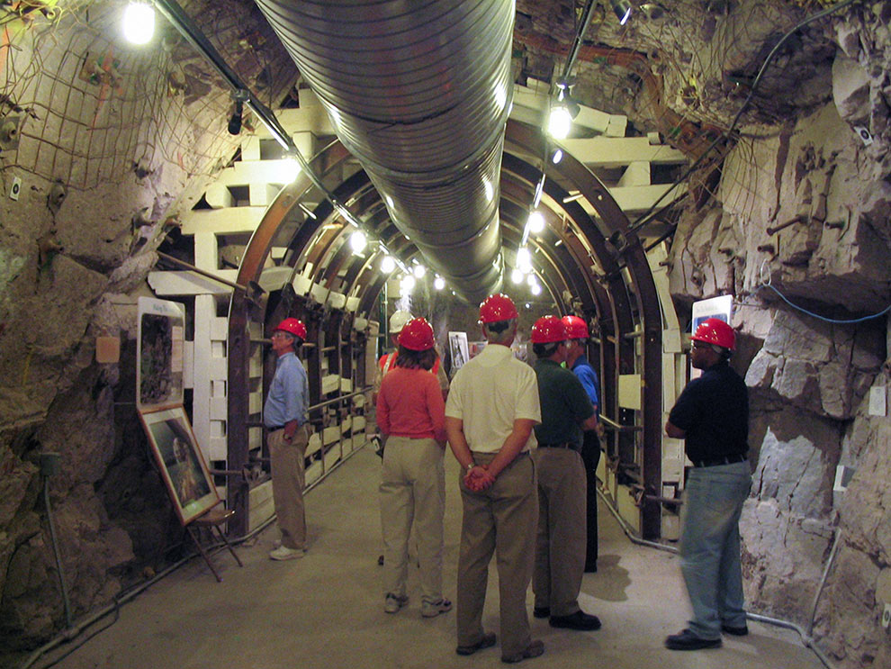 NRC staff visit the proposed high-level waste repository site at Yucca Mountain