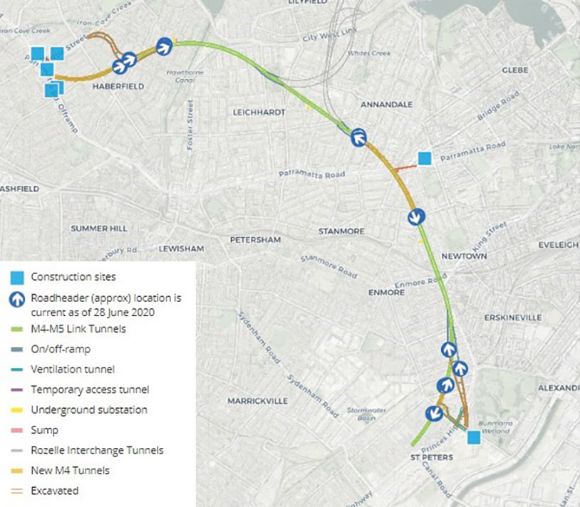 Fig 3. Twin 7.5km alignment will link new M4 and M8