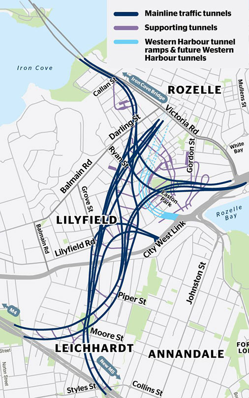Fig 4. Intricacy of Rozelle interchange