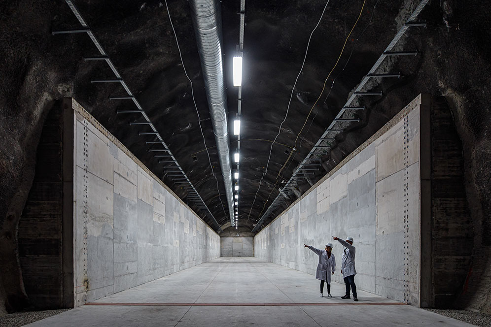 Underground low- and medium-level nuclear waste repository in Hungary