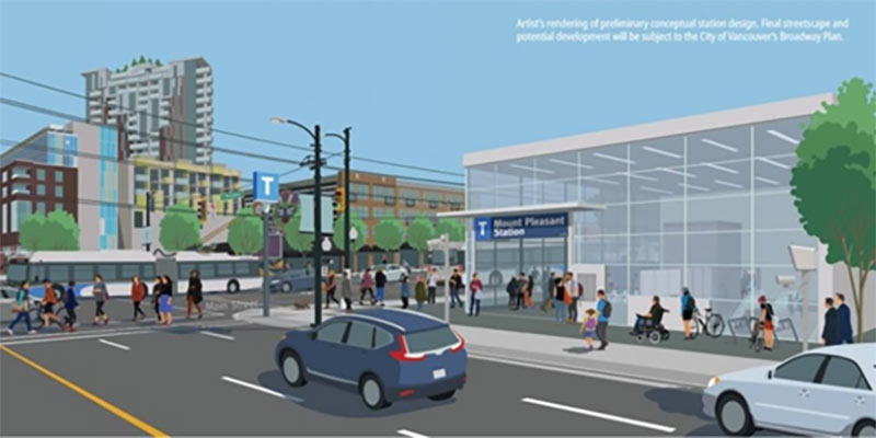 Owner's design concept for Mount Pleasant Station